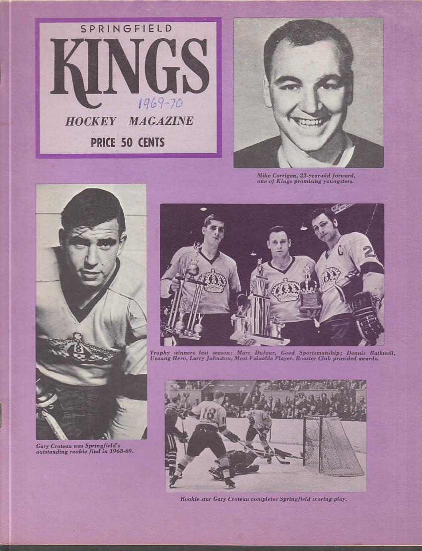 Hershey Bears at Springfield Kings AHL Program 1969-1970