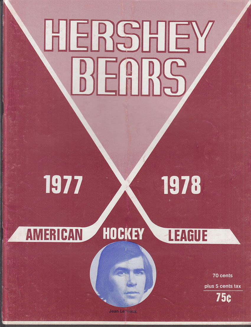 Rochester Americans at Hershey Bears AHL Hockey Program 12/3 1977
