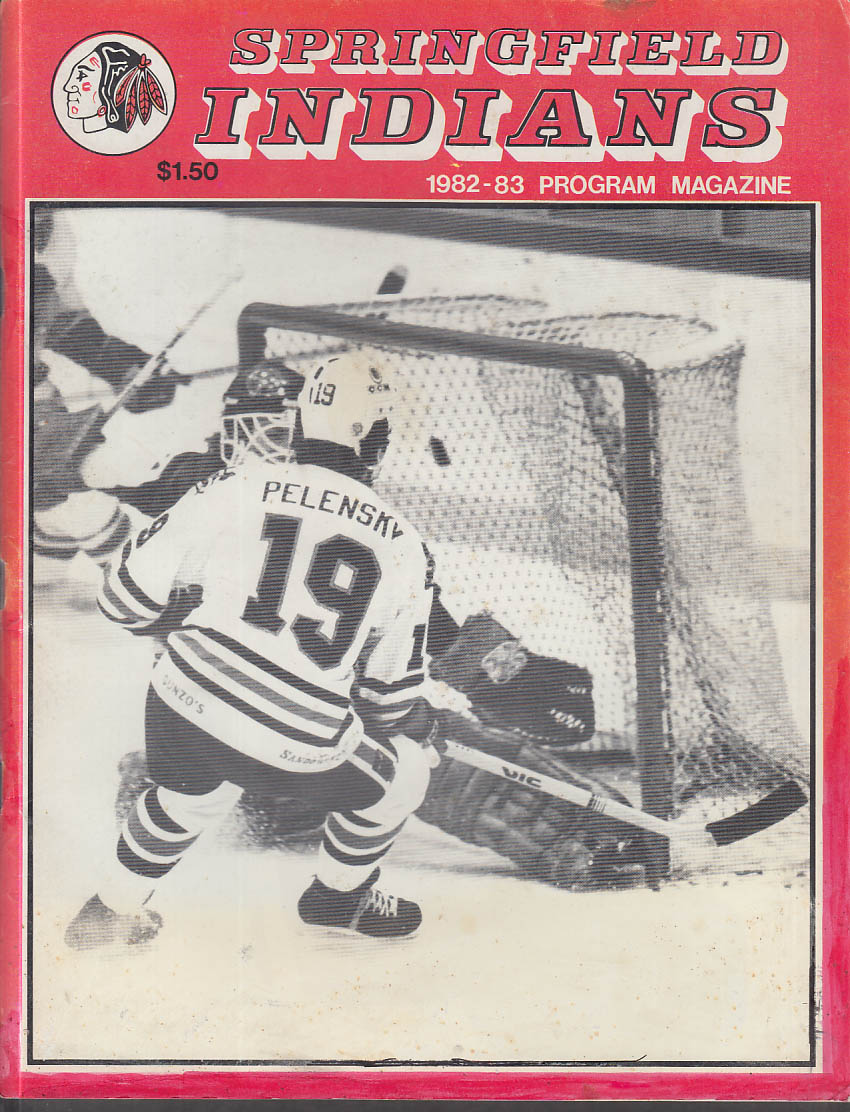 Moncton Alpines at Springfield Indians AHL Program 3/12 1983