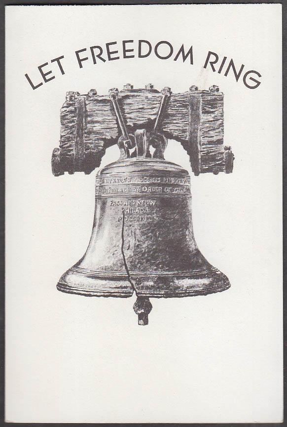Let Freedom Ring Nixon-Lodge campaign folder 1960 Republican Pennsylvania