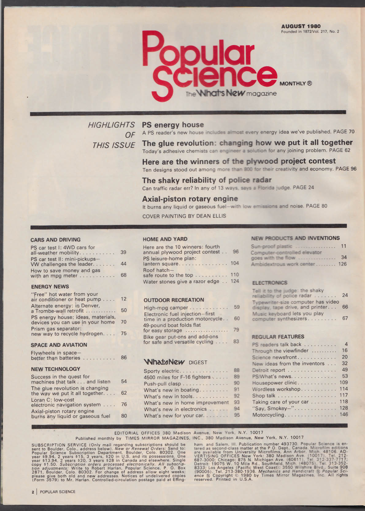 POPULAR SCIENCE Axial-Piston Rotary Engine Loran C Volkswagen Rabbit 8 1980