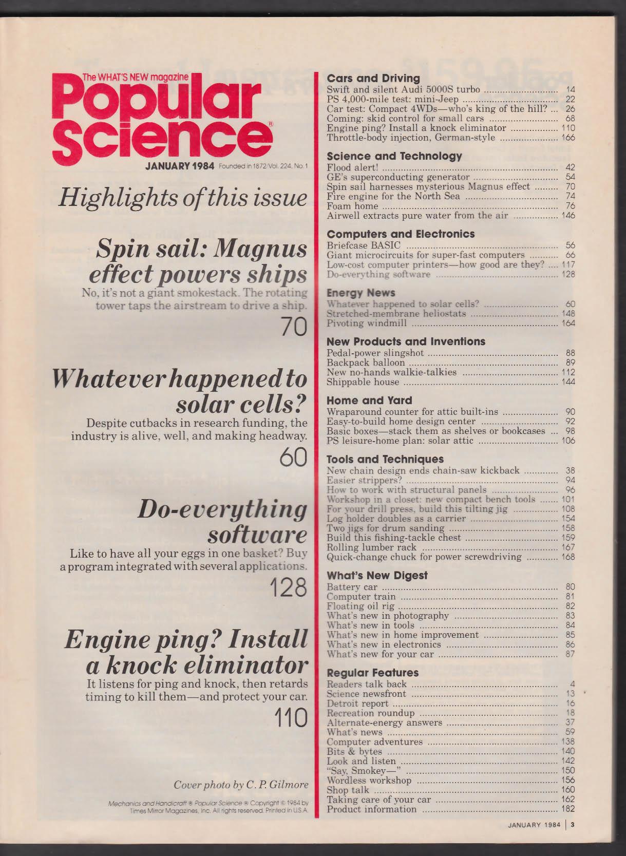 POPULAR SCIENCE Magnus Effect Solar Cells Apple Lisa Programming + 1 1984