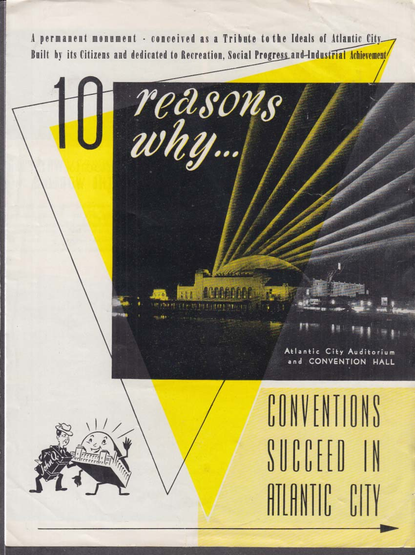 10 Reasons Why Conventions Succeed in Atlantic City folder ca 1950s