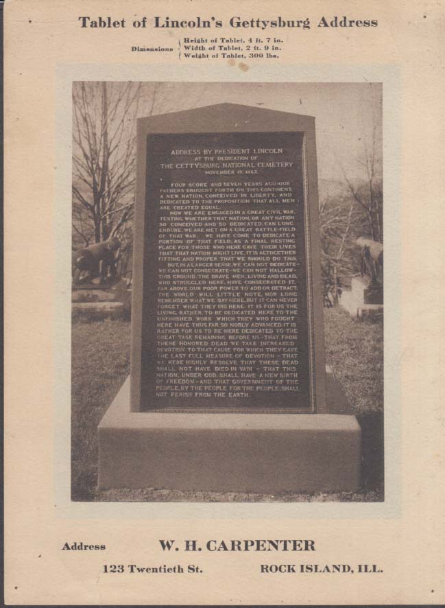 photo regarding Gettysburg Address Printable titled Pill of Lincolns Gettysburg Cover Rock Island Arsenal