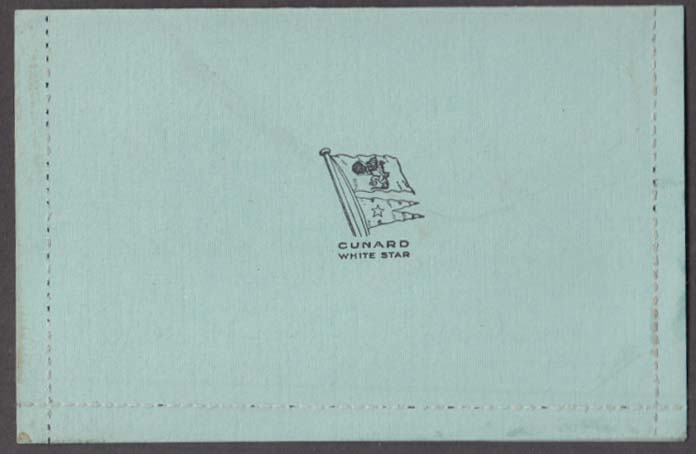 Cunard White Star Steamship Line Letter Card 1940s unused
