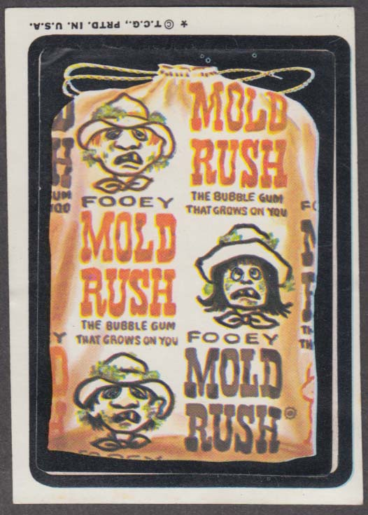 Topps Wacky Packages Fooey MOLD RUSH GUM grows on you 1974