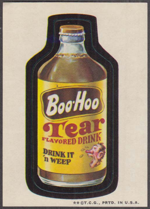 Topps Wacky Packages BOO-HOO Tear Flavored Drink 1973