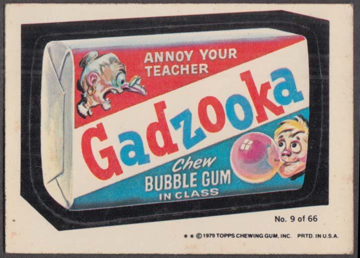 Topps Wacky Packages GADZOOKA Bubble Gum 1979 Rerun #9