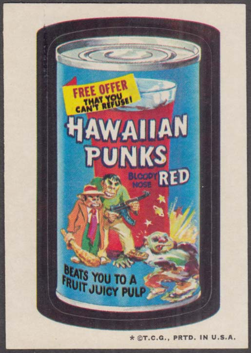 Topps Wacky Packages HAWAIIAN PUNKS one * version 1973