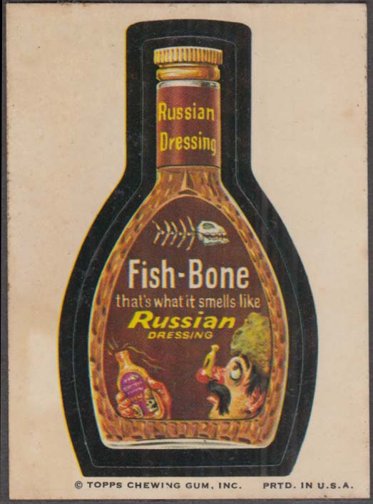 Topps Wacky Packages FISH-BONE Russian Dressing 1973 © Topps Chewing Gum