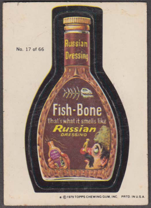 Topps Wacky Packages FISH-BONE Russian Dressing 1979 #17