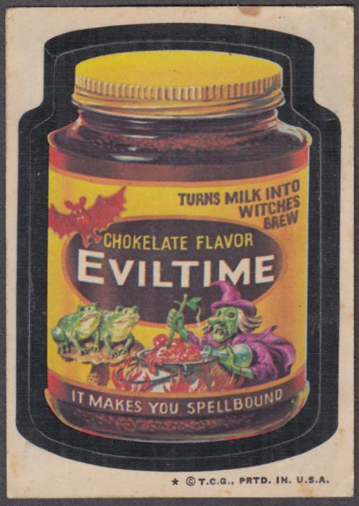 Topps Wacky Packages Chokelate Flavor EVILTIME 1974 one * version