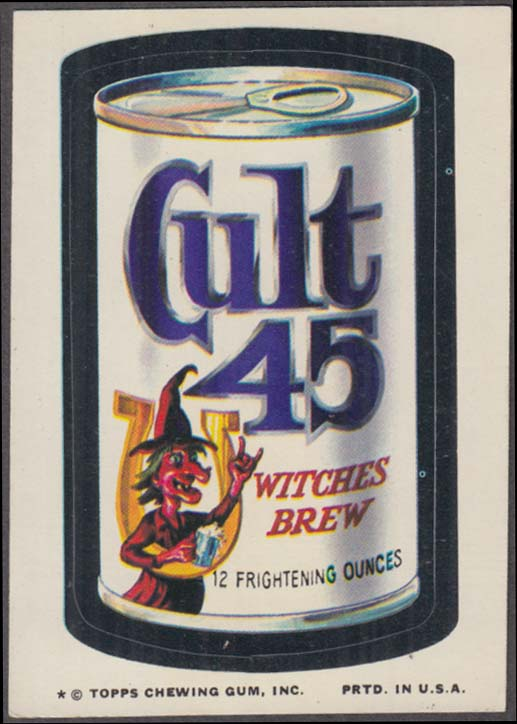 Topps Wacky Packages CULT 45 Witches Brew 1974