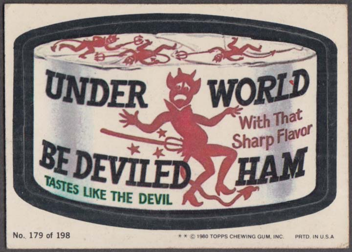 Topps Wacky Packages UNDER WORLD Be Deviled Ham 1979 #179