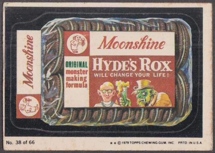 Topps Wacky Packages MOONSHINE HYDE'S ROX 1979 #38