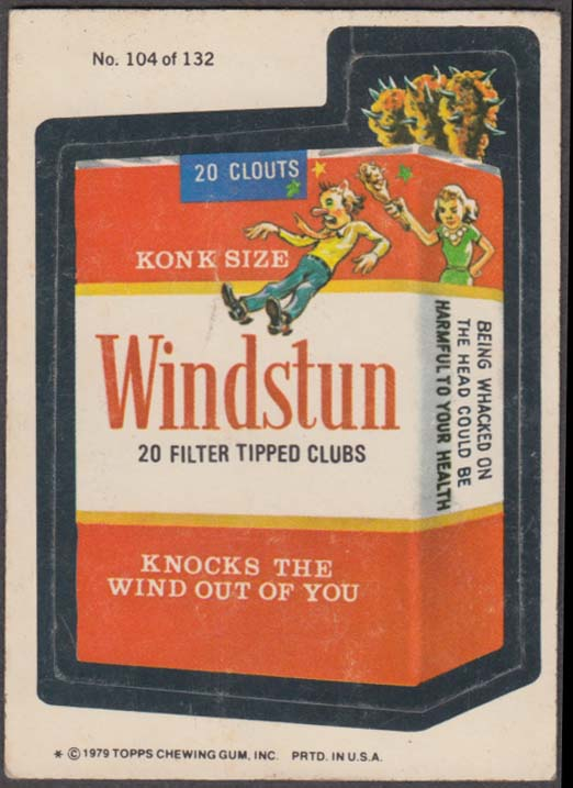 Topps Wacky Packages WINDSTUN Filter Tipped Clubs 1979 #104