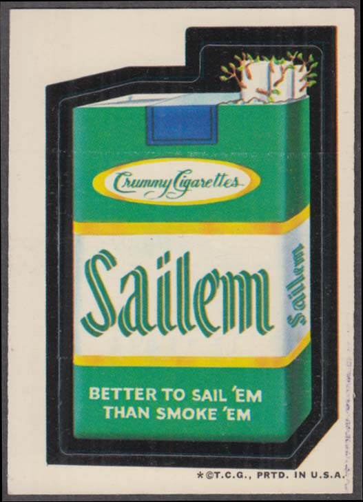 Topps Wacky Packages SAILEM Crummy Cigarettes 1973 one * version