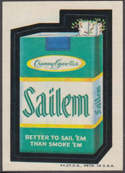 Topps Wacky Packages SAILEM Crummy Cigarettes 1973 two * version