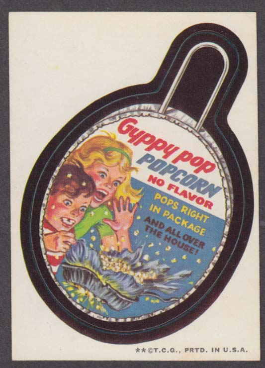 Topps Wacky Packages GYPPY POP Popcorn 1973 two * version