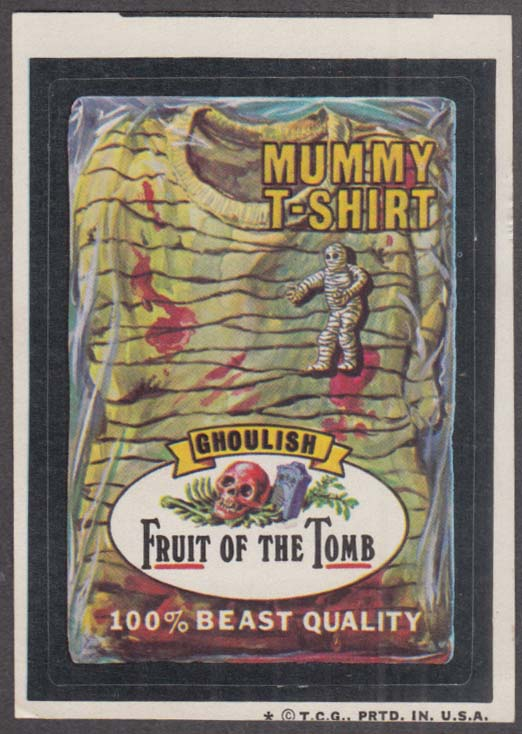 Topps Wacky Packages FRUIT of the TOMB Mummy T-Shirt 1974 one * version