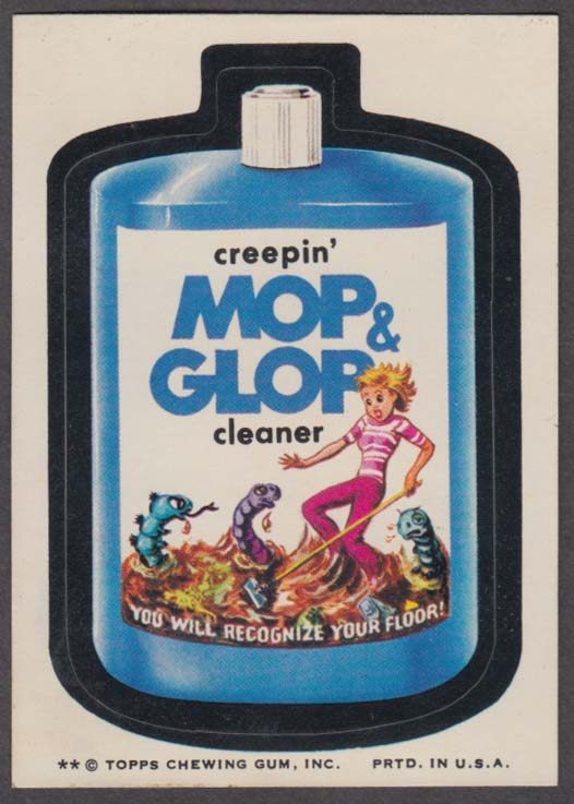 Topps Wacky Packages MOP & GLOP Cleaner 1974 two * version.