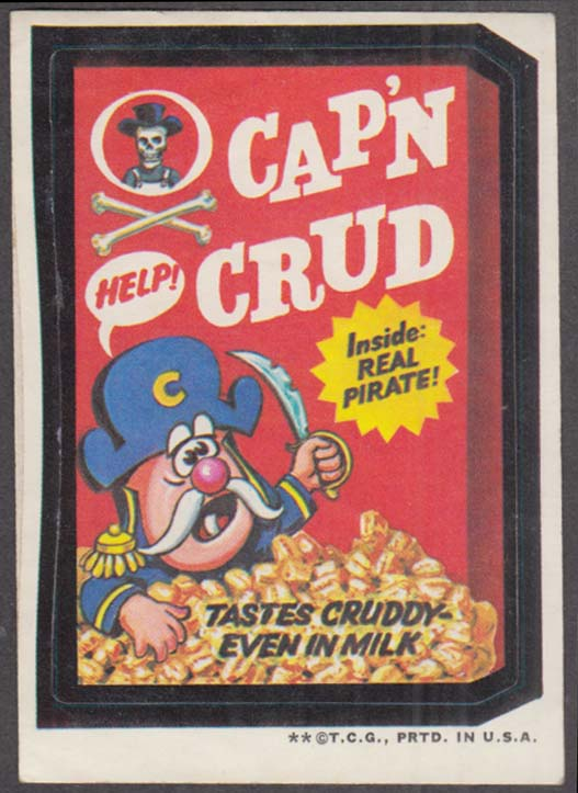 Topps Wacky Packages CAP'N CRUD Cereal 1973