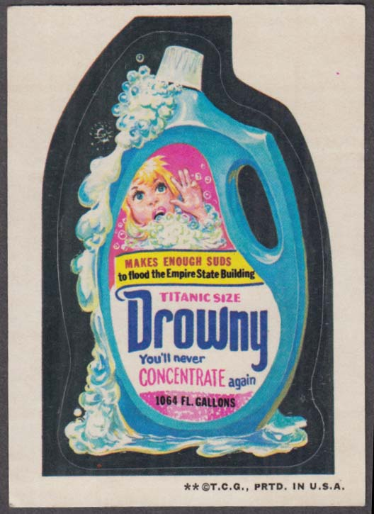 Topps Wacky Packages DROWNY Detergent 1973 one * version