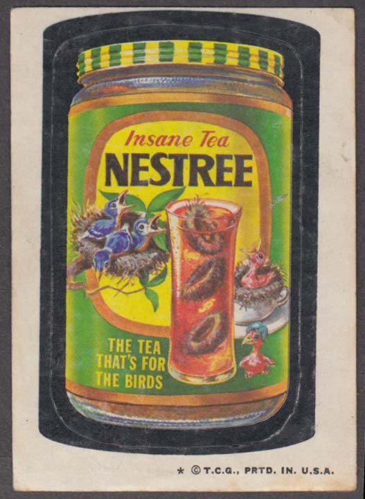 Topps Wacky Packages NESTREE Insane Tea 1973 one * version.