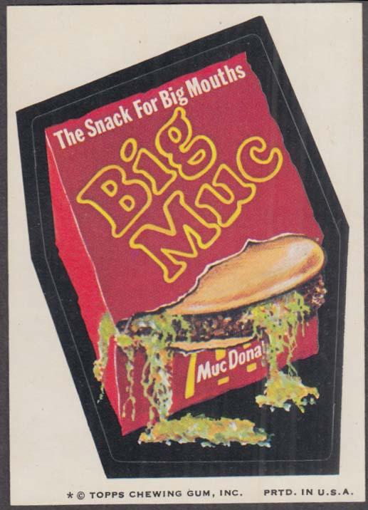 Topps Wacky Packages BIG MUC Hamburger 1974 one * version
