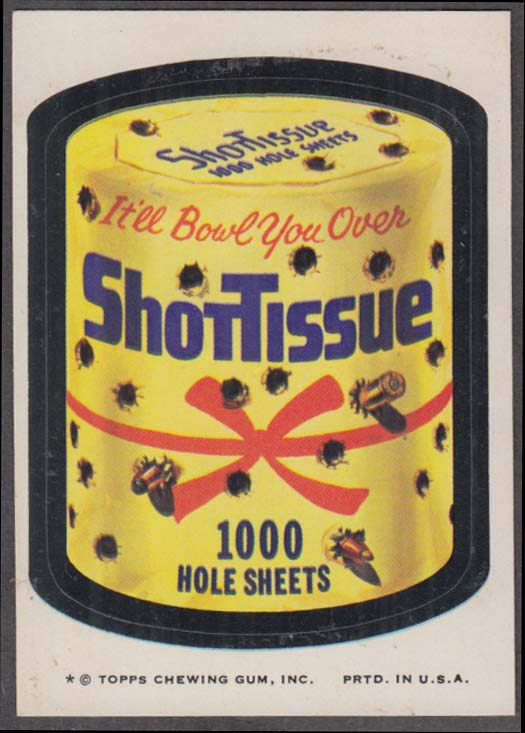 Topps Wacky Packages ShotTissue 1000 Hole Sheets 1974 one * version