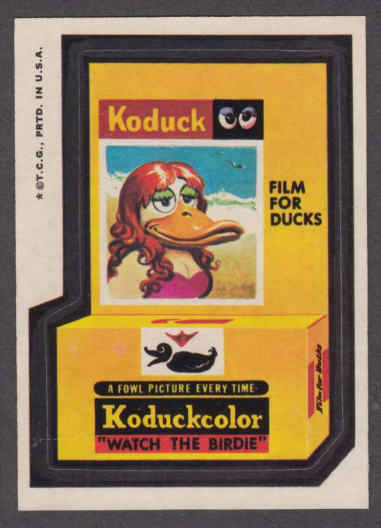 Topps Wacky Packages KODUCK Koduckcolor Film for Ducks 1973 one * version