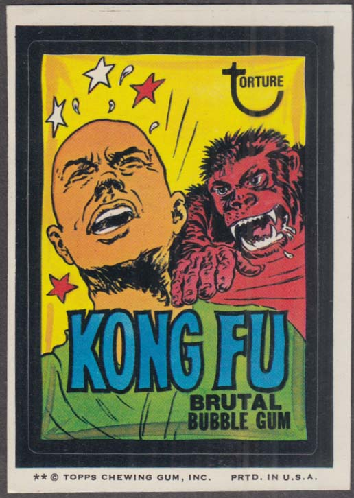 Topps Wacky Packages KONG FU Brutal Bubble Gum 1974 two * version