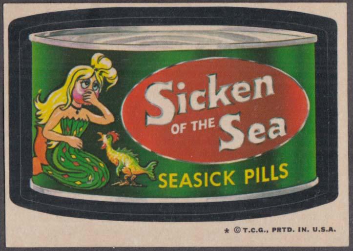 Topps Wacky Packages SICKEN of the SEA Seasick Pills 1973-1974