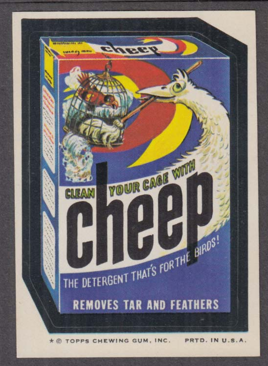 Topps Wacky Packages CHEEP Detergent 1974 one * version