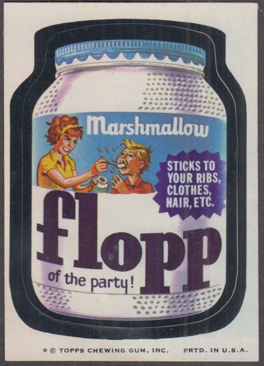 Topps Wacky Packages Marshmallow FLOPP of the Party 1974 one * version