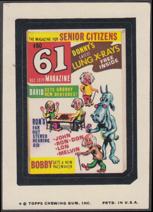 Topps Wacky Packages 61 Magazine for Senior Citizens 1974 one * version