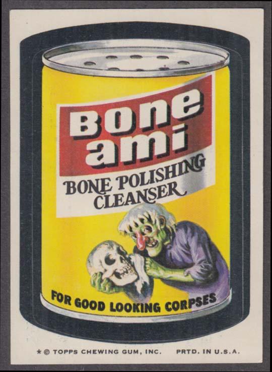 Topps Wacky Packages BONE AMI Bone Polishing Cleanser 1974 one * version