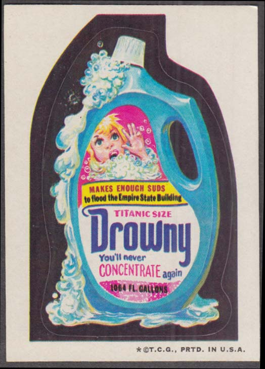 Topps Wacky Packages DROWNY Softener 1973 one * version