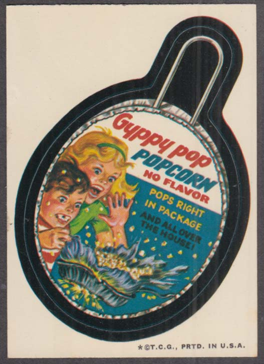 Topps Wacky Packages GYPPY POP Popcorn 1973 one * version, white back