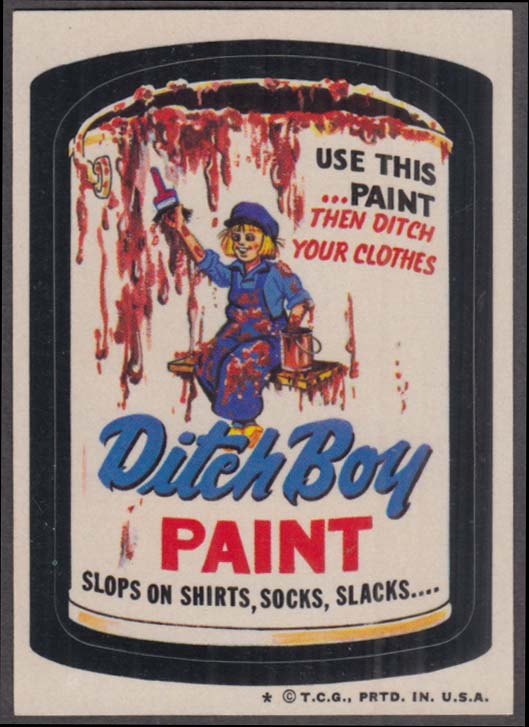 Topps Wacky Packages DITCH BOY PAINT 1974 one * version.