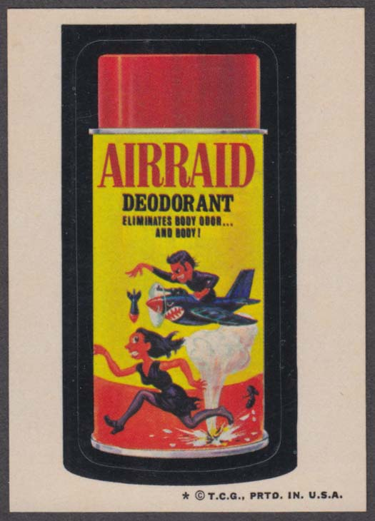 Topps Wacky Packages AIRRAID Deodorant 1974 one * version