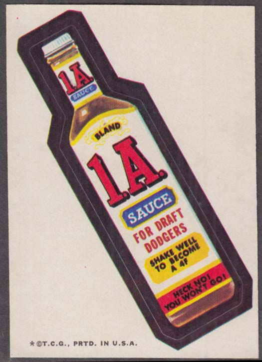 Topps Wacky Packages 1.A. SAUCE for Draft Dodgers 1973 one * version