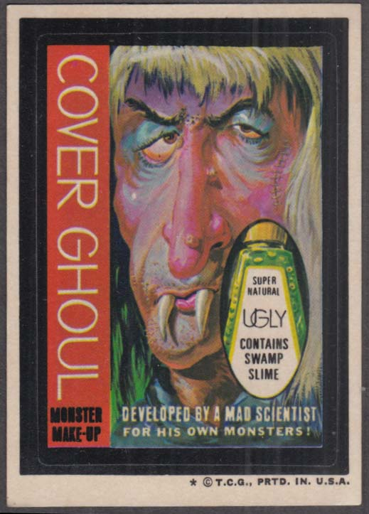 Topps Wacky Packages COVER GHOUL Monster Make-Up 1974 one * version