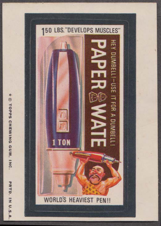 Topps Wacky Packages PAPER WATE Pen 1974 one * version