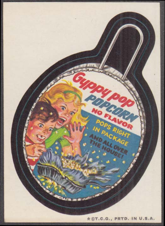 Topps Wacky Packages GYPPY POP Popcorn 1973 one * version