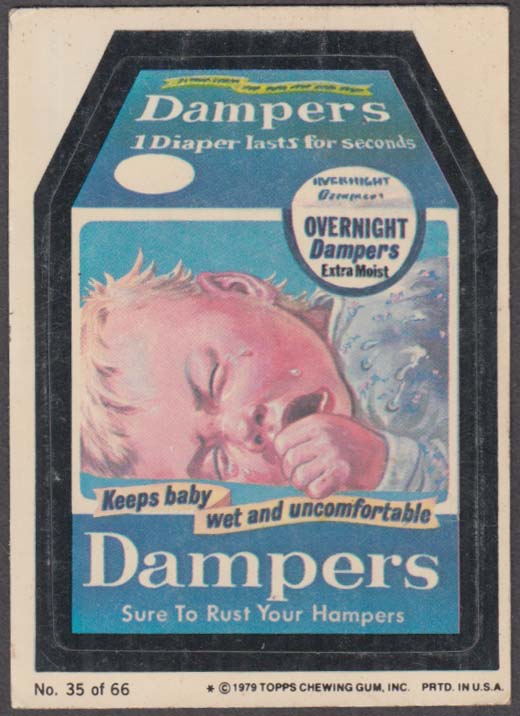 Topps Wacky Packages DAMPERS Diapers 1979 #36