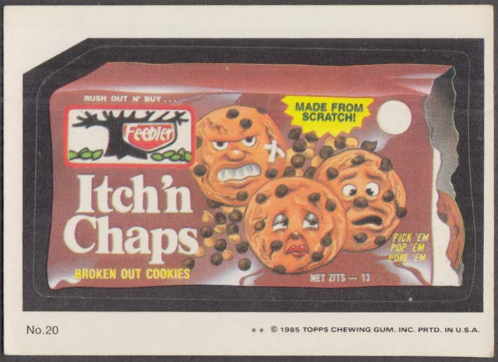 Topps Wacky Packages ITCH 'N CHIPS Cookies 1985 #20