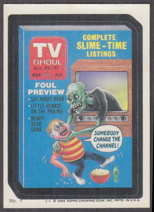 Topps Wacky Packages TV GHOUL Magazine 1985 #1 two * version