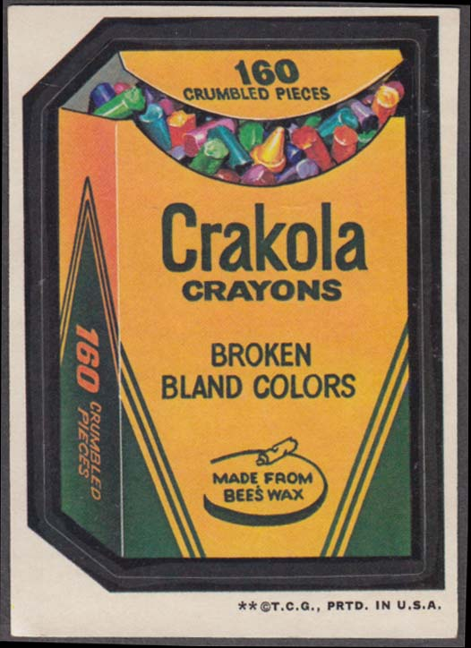 Topps Wacky Packages CRAKOLA CRAYONS 1973 two * version