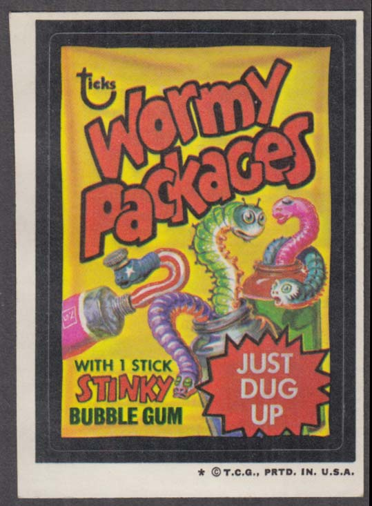 Topps Wacky Packages WORMY PACKAGES Bubble Gum 1973 one * version